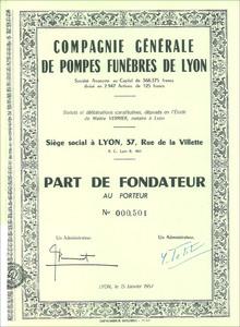 Compagnie Générale des Pompes Funèbres de Lyon (MF016)