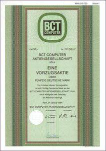 BCT Computer Aktiengesellschaft (IT006)