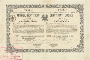 """""""VESTA"""" Lebensversicherungs-Bank auf Gegenseitigkeit (VU20)"""