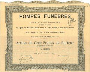 Pompes Funèbres de Chalon-sur-Saône SA (MF019)