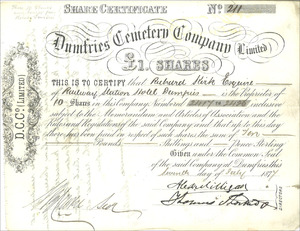 Dumfries Cemetery Company (Limited) (MF005)