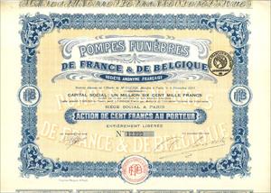 Pompes Funèbres de France & de Belgique Société Anomyme Française (MF002)